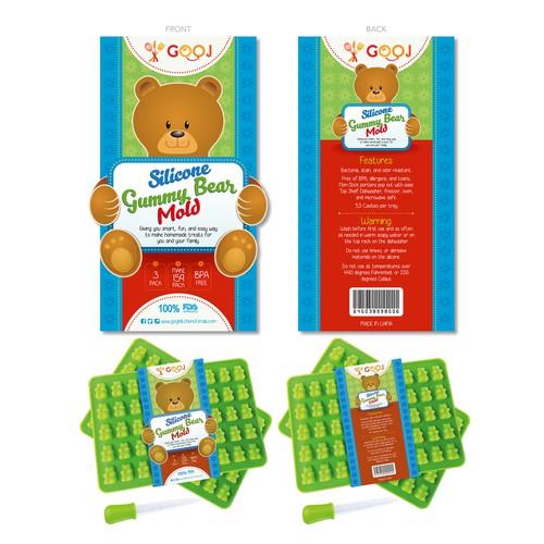 Create a fun and sylish gummy bear package sleeve