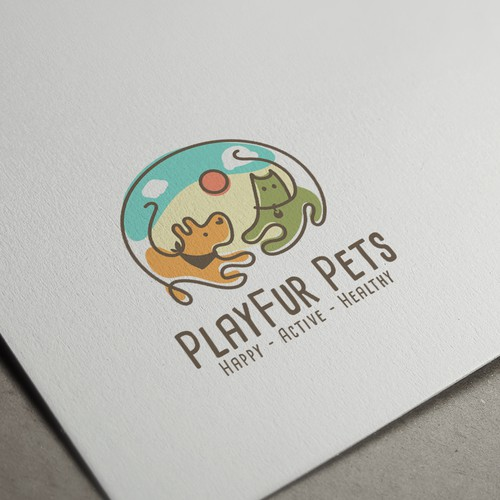 Logo Concept for PlayFur Pets