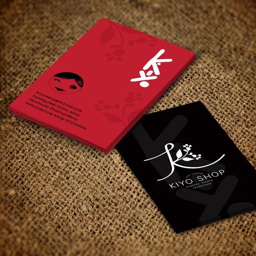 Business card for kiyo shop