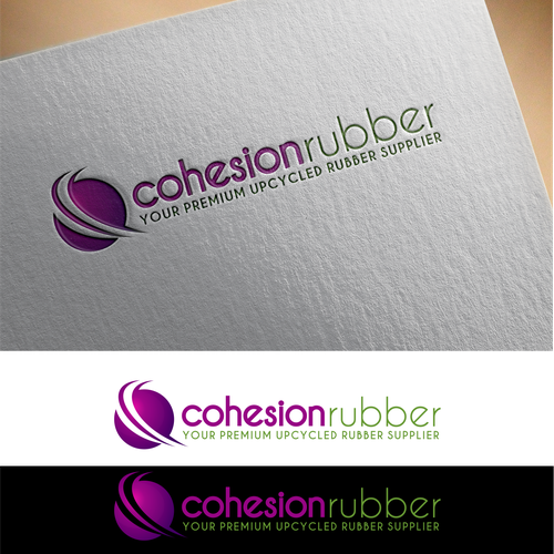 Great logo concept for Cohesion rubber