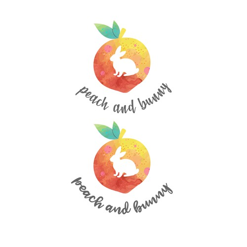 Peach and bunny Logo design