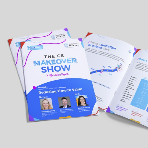 Engaging brochure that visually summarizes the learnings of live show
