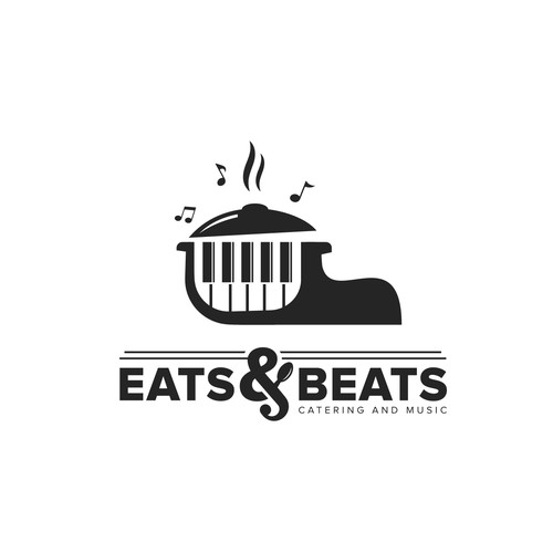 logo design for Eats & Beats is a catering and entertainment company.