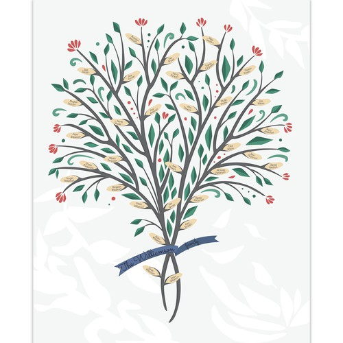 Five  generations family tree poster