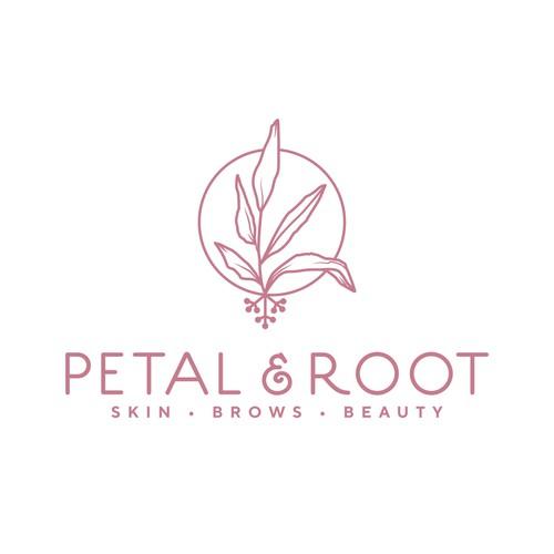 Plant based logo design for a holistic, organic skincare studio