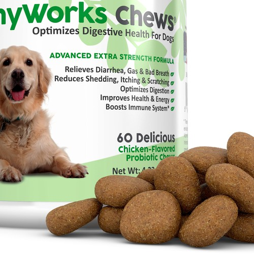 TummyWorks Chews 3D Image