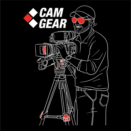 cam gear t shirt illustration