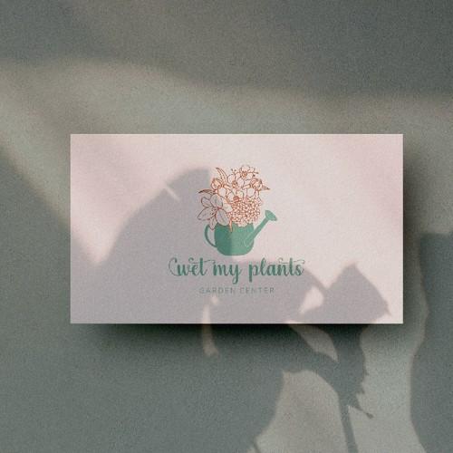 logo concept for garden center