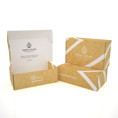PRODUCT PACKAGING FOR WHITE+BURN