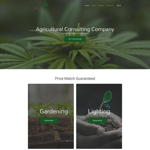 WEB DESIGN FOR WEST COAST HEMP FARM
