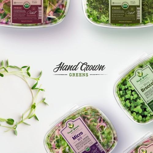 MicroGreens Labels Design