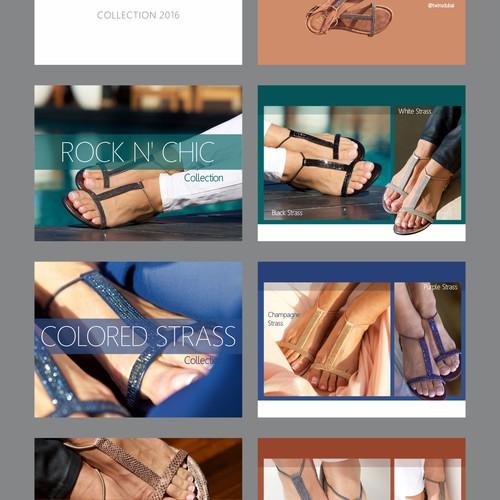 Slide show design for fashion Sandal