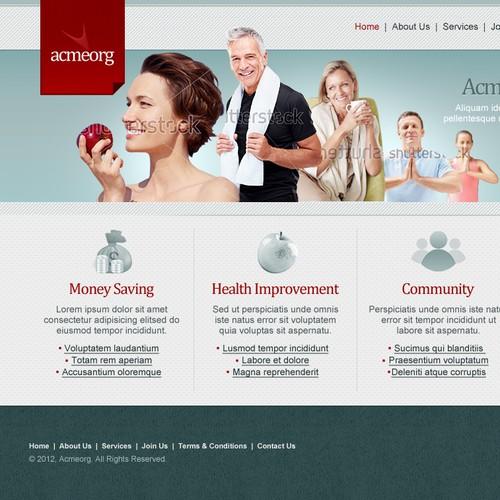 website design for AcmeOrg