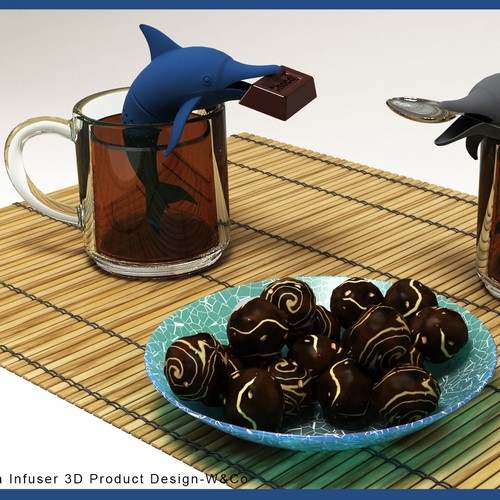 Dolphin Tea Infuser 3D Product Design