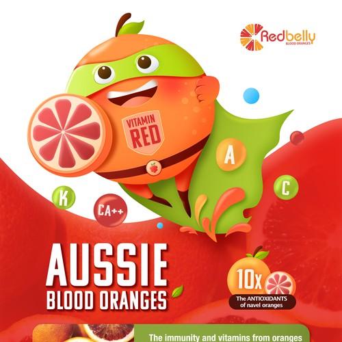 Character design for marketing fruit