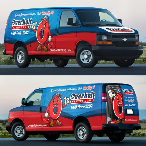 Heating and AC Company Van Wrap