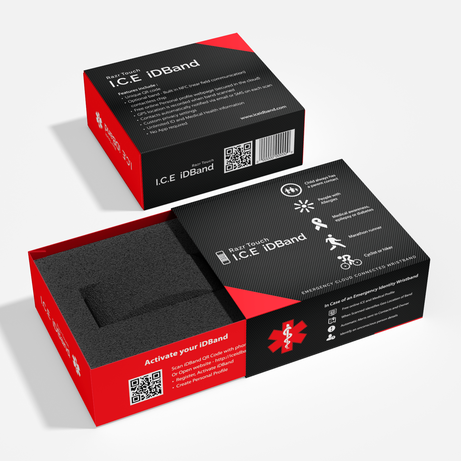 Package Design for a new Modern Product - I.C.E iDBand