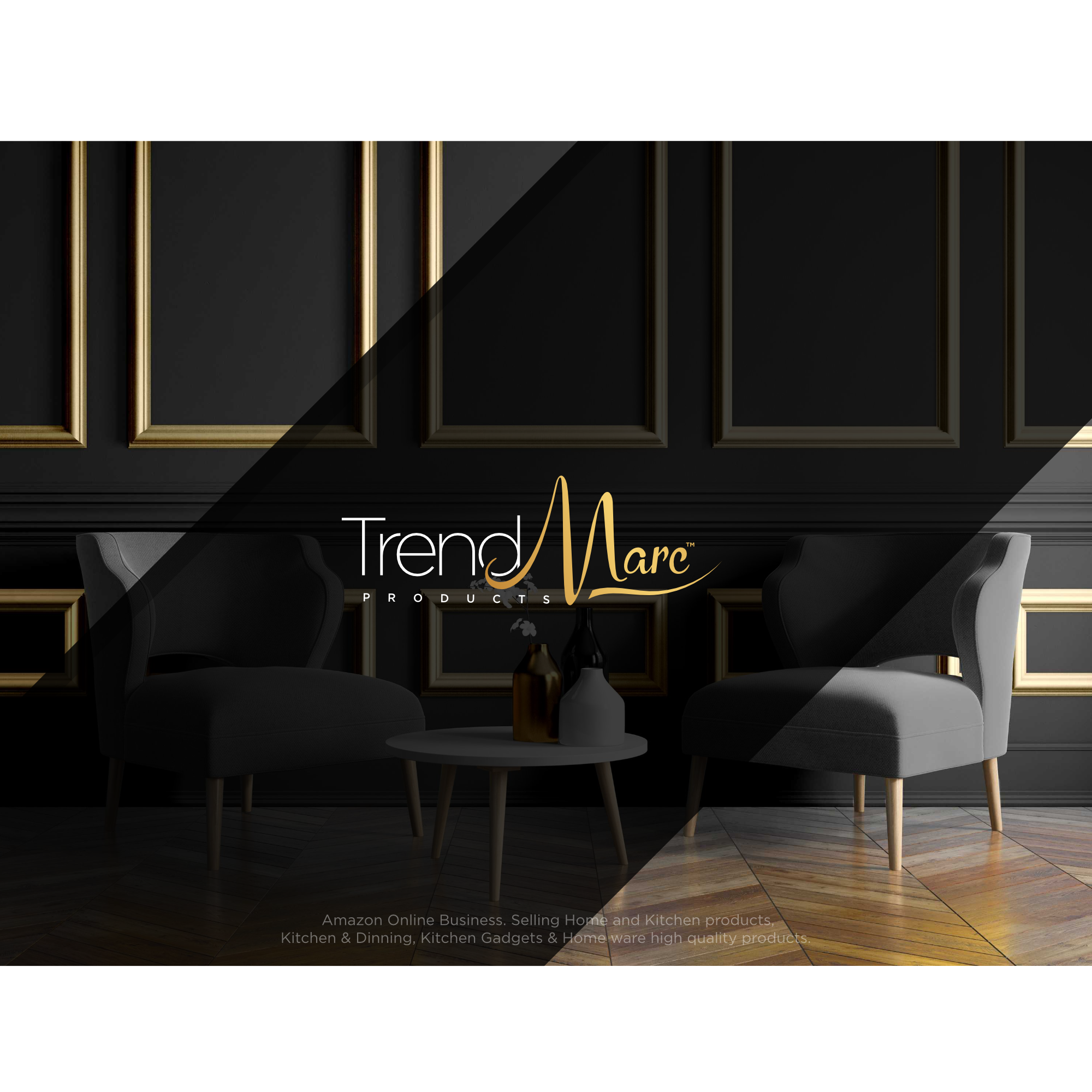 I want a trendy logo and Website for my new online Amazon business brand