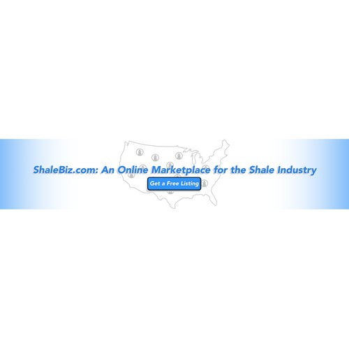 Slick banner ad for an online shale company