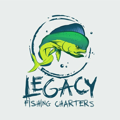 Strong logo for fishing industry
