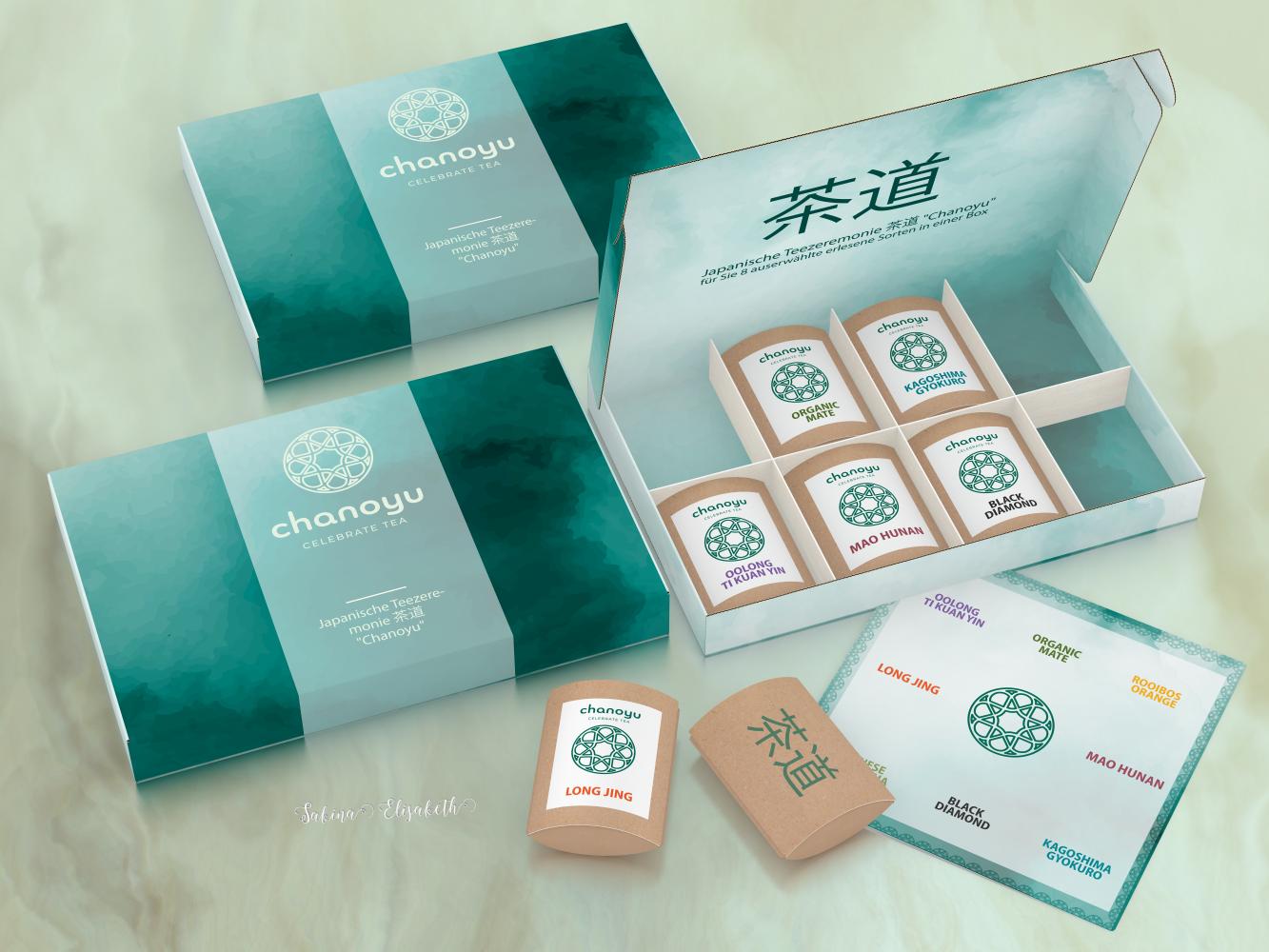 Harmonious and attractive tasting box for tea