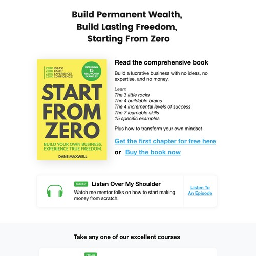 Website design - Start From Zero