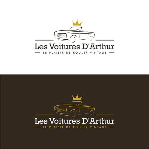 Classy and fun logo for Arthur's - Vintage Cars Rental Company