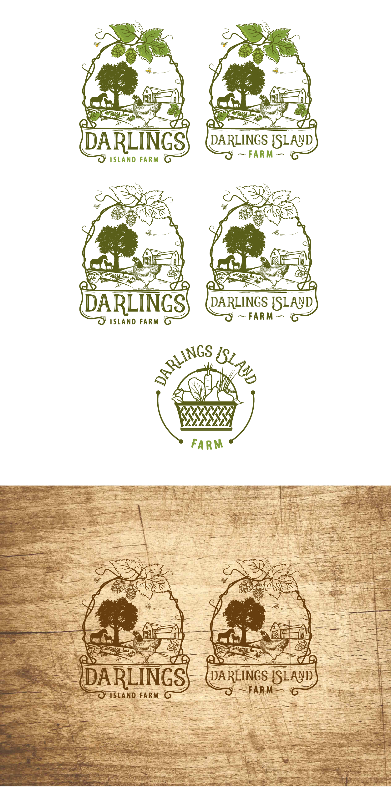 "Create  a logo for ""Darlings Island Farm"""