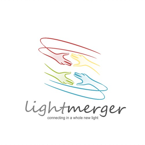 Bold, Imaginative Logo brings people together - Join LIGHTMERGER