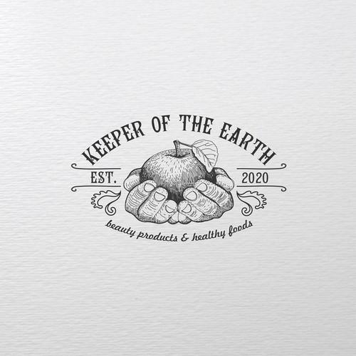 Logo for organic farm