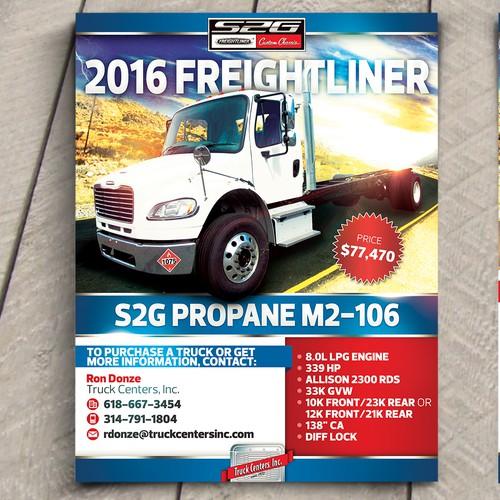 Trucking design flyer.