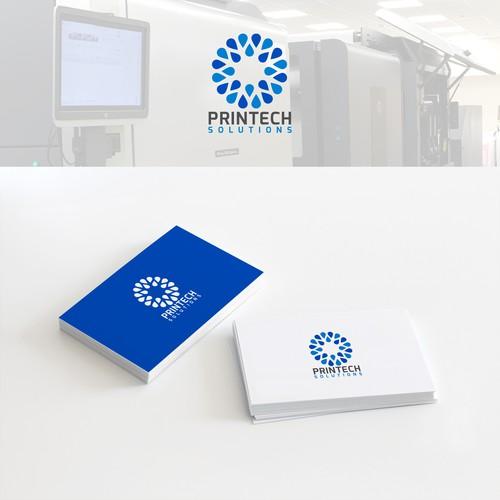 Printech Solutions Logo Design