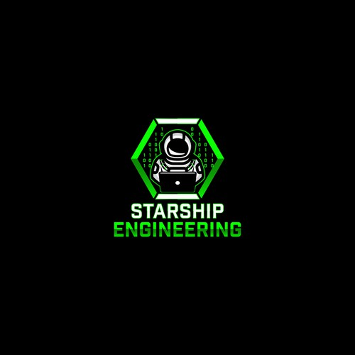 Mascot logo for Starship Engineering