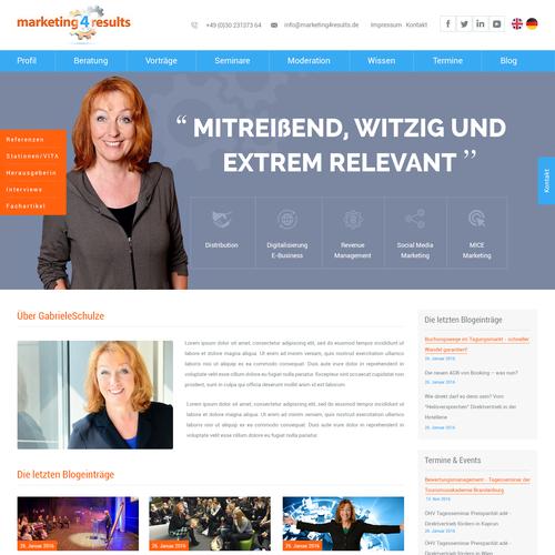 Webdesign for Webconsultant