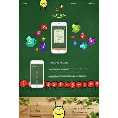 Mathapillar Landing Page Design