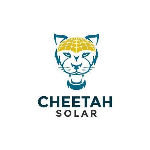 Cheetah logo concept for solar sales company