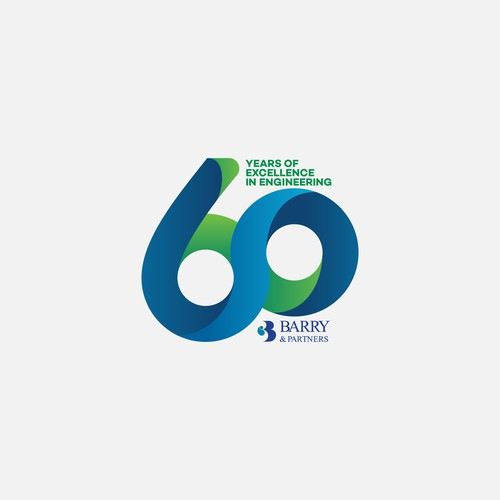 Modern Logo Concept for 60th Anniversary