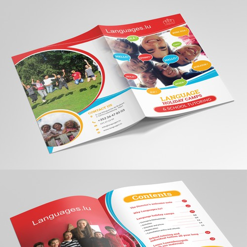 Design THE best Language Holiday Camps brochure