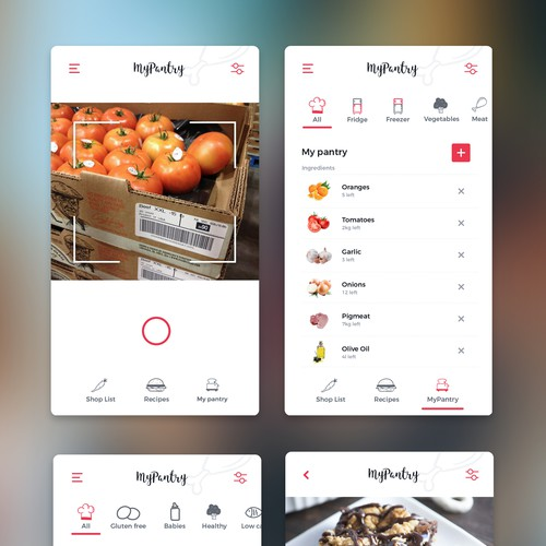 App Design for MyPantry