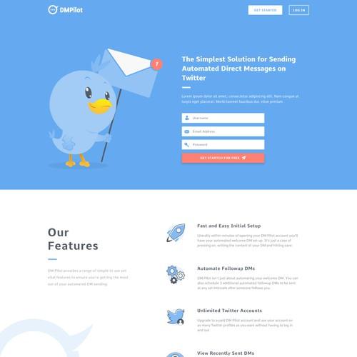 Landing Page Design For DMPilot