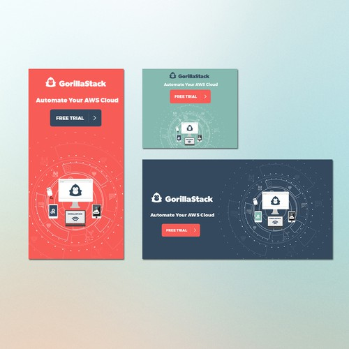 Web Banners For Saas Startup