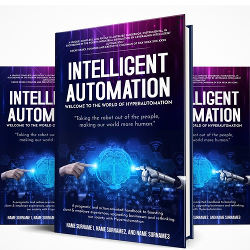 Book cover - ARTIFICIAL INTELLIGENCE reinvents the future of business and makes our world more human