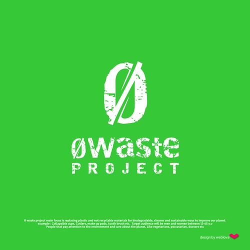 Logo for 0wasteproject for a cleaner future