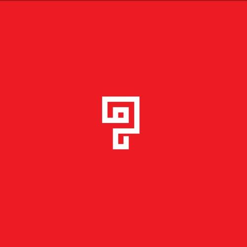 Bold line logo concept for Pi Interactive