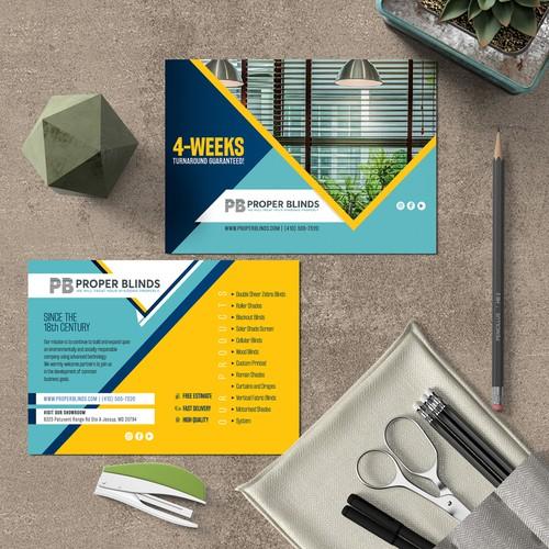Postcard for Interior design company.