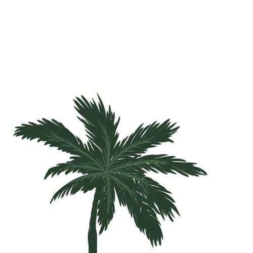 Palm Tree Tattoo Design