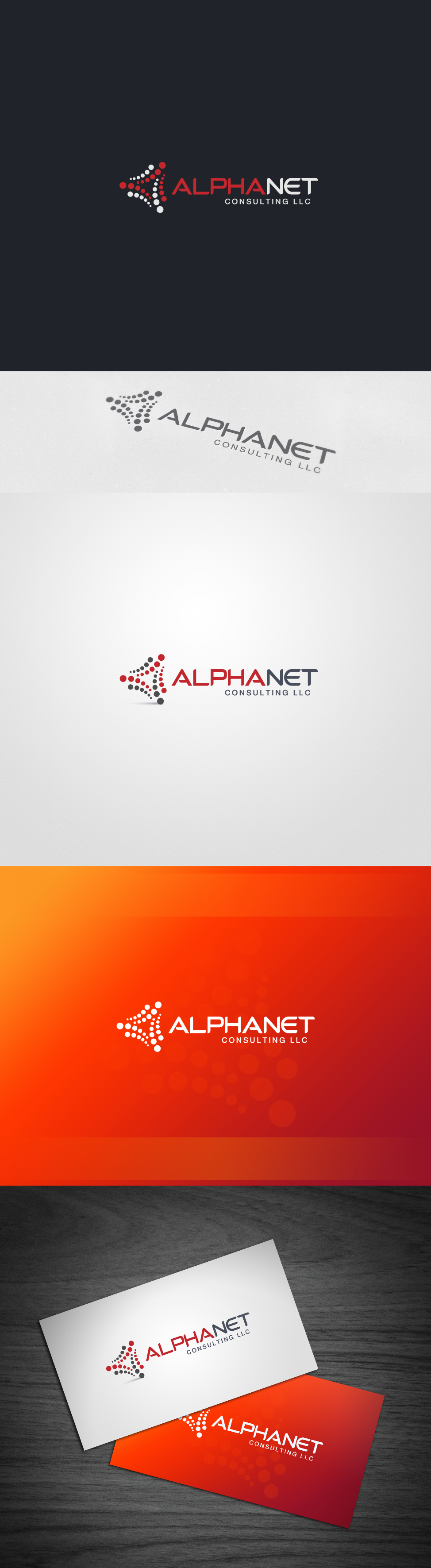 Create the next logo for Alpha Net Consulting LLC (ANC)