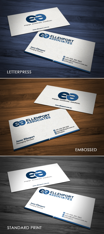 Logo and business card for Ellenport Associates Pty Ltd (website to follow for successful designer)