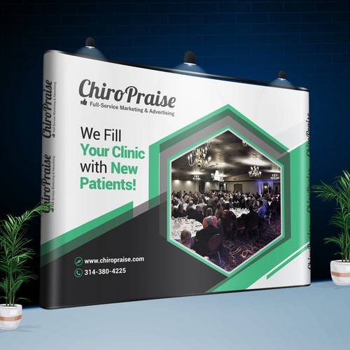 ChiroPraise Sales Booth Backdrop Redesign