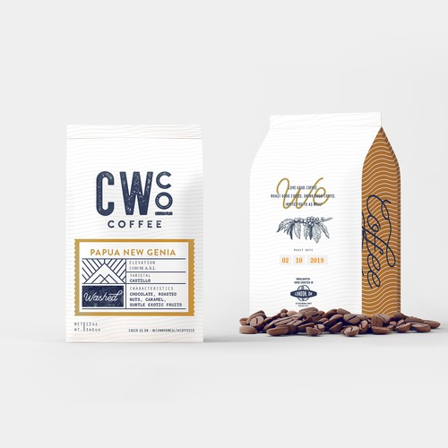 COFFEE PACKAGING DESIGN FOR CW.co